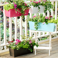 Rectangular Hanging Planter, BRONZE
