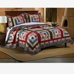 Colorado Lodge Quilt Set, IVORY