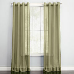 BH Studio Sheer Voile Grommet Panel, SAGE