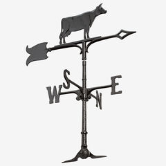 """30"""" Cow Accent Weathervane, BLACK"""