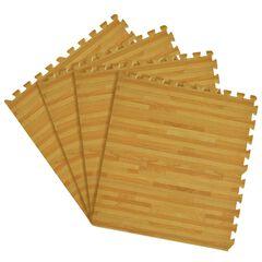 "Interlocking Foam 24"" x 24"" Anti Fatigue Floor Tiles 4 tiles/16 Sq. Ft., PINE"