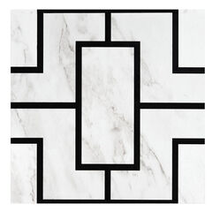 Retro 12x12 Self Adhesive Vinyl Floor Tile - Affinity - 20 Tiles/20 sq. ft., BLACK MARBLE