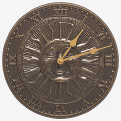 Sunface Clock, FRENCH BRONZE
