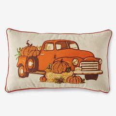 Holiday Lumbar Pillow, HARVEST TRUCK