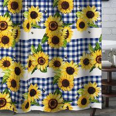 Sunflower Gold Bath Shower Curtain, GOLD