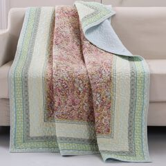 Barefoot Bungalow Palisades Quilted Throw Blanket, PASTEL