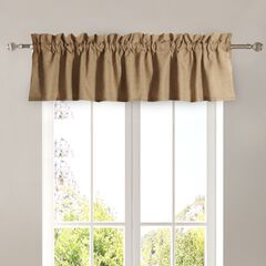 Burlap Natural Window Valance , NATURAL