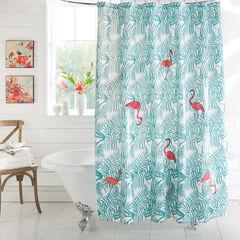 Mariposa Shower Curtain, FLAMINGO