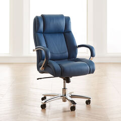 Big and Tall Chrome Finish Office Chair, LAGOON