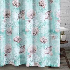Ocean Turquoise Bath Shower Curtain, TURQUOISE