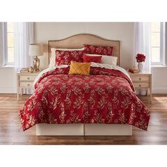 Elizabeth 5-PC. Jacquard Comforter Set, BURGUNDY