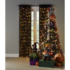 6' Pre-Lit Halloween Pop-Up Tree, BLACK