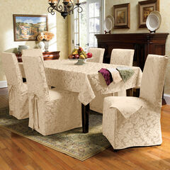 9-Pc. Square Damask Table Linen Set, IVORY