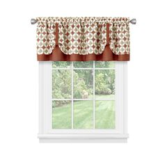 Callie Double Layer Pick Up Valance - 58x14, SPICE TAN
