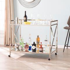 Maxton Gold Bar Cart, SILVER