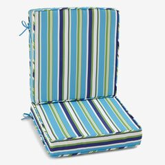 2-Section Deep Seating Cushion, POPPY STRIPE