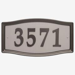 Easy Street Address Sign, BRONZE