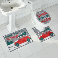 3-Pc. Holiday Bath Rug Set, GRAY TRUCK