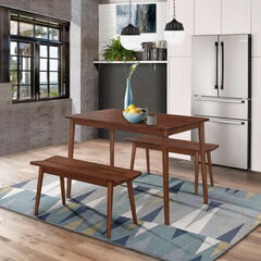 Branson Table & 2 Benches, WALNUT