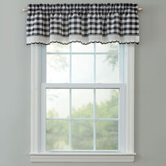 Buffalo Check Rod-Pocket Valance, BLACK WHITE