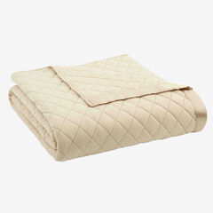 Micro Flannel® Quilted Blanket, CHINO