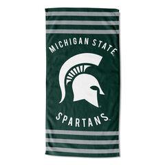 Michigan State Stripes Beach Towel,