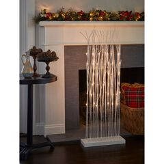 Pre-Lit 4'H Twig Cluster, WHITE