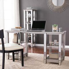 Wedlyn Mirrored Desk, SILVER