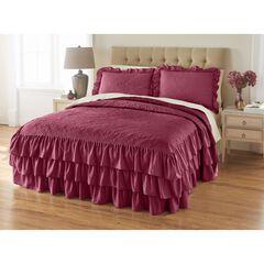 Jenny 3-Pc. Ruffle Flounce Bedspread, WINE
