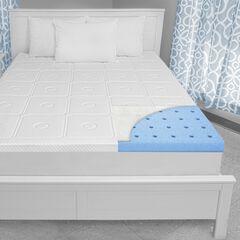 SensorPEDIC Luxury Extraordinaire 3-Inch Memory Foam Mattress Topper, WHITE