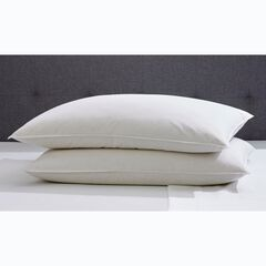 2-Pack Quilless Feather-Filled Pillows, WHITE