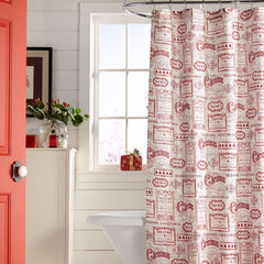 13-Pc. Vintage Christmas Shower Curtain,