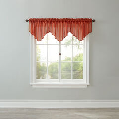 BH Studio Sheer Voile Ascot Valance, AUTUMN LEAVES