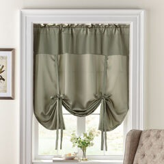 BH Studio Room-Darkening Tie-Up Shade, SAGE