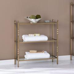 Reinzo 3-Tier Bathroom Shelf, GOLD