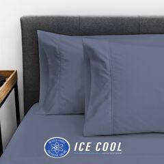 SensorPEDIC Ice Cool 400 Thread Count Standard Pillowcase Pair, DARK BLUE