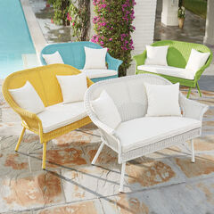 Roma Loveseat, WHITE