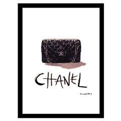Chanel Classic Bag - Black / White - 14x18 Framed Print, BLACK WHITE