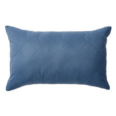 BH Studio® Reversible Quilted Lumbar Pillow, BLUE SMOKE DARK GRAY
