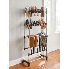 Rolling Boot Storage Rack, CHROME