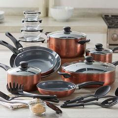 26-Pc. Aluminum Cookware Set, COPPER