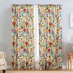 Astoria Curtain Panel Pair , WHITE