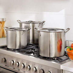 6-Pc. Stainless Steel Stockpot Set, STAINLESS