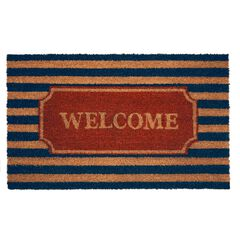 "Printed Coir Door Mat 18"" x 30"", RED BROWN BLACK"