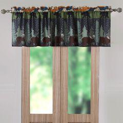 Black Bear Lodge Window Valance , MULTI