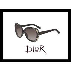 "Christian Dior Sunglasses Black 14"" x 18"" Framed Print, GOLD BLACK"
