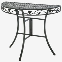 Ivy League Multi-Use 2 Half Round Table, BROWN