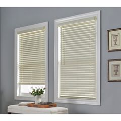 "2"" Faux Wood Cordless Blinds, IVORY"