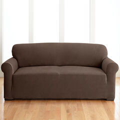 BH Studio Brighton Stretch Sofa Slipcover, CHOCOLATE