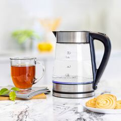 1.7 Liter Analog Rapid Boil Electric Kettle , STAINLESS STEEL